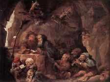 David Teniers the Younger tentazione di St Anthony stampa in A4