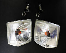 LAND ROVER DISCOVERY 1 1994-1999 WHITE CLEAR FRONT INDICATOR LAMP LIGHT SET NEW