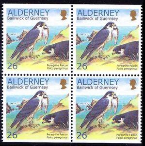 Alderney 2000 MNH Blk 4 from Booklet, Falcon, Birds of Prey, Duck Hawk