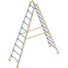 Layher Stehleiter Topic 1039 mit 10 Sprossen Sprossenstehleiter Klappleiter Alu