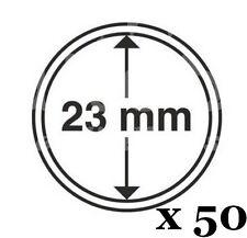 Lot de 50 capsules - Diamètre 23 mm - pour vos pièces d ' 1 euro -  Leuchtturm