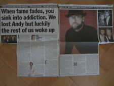BEE GEES MAURICE GIBB INTERVIEW  clippings / cuttings UK newspaper 2001 ANDY