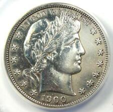 1900-S Barber Half Dollar 50C - ANACS AU50 Details - Rare Date - Certified Coin