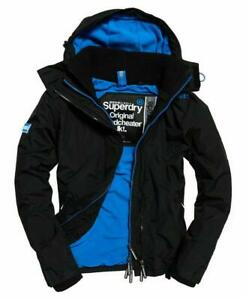 Superdry Hooded Arctic Windcheater Jacket Black Blue 100% Authentic