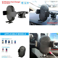 Qi Wireless Car Fast Charger Holder Mount For iPhone X 8 8 Plus Samsung Note8 S8