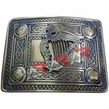 Men's Irish Celtic Harp Kilt Belt Buckle Antique / Celtic Kilt Belt Buckle Harp