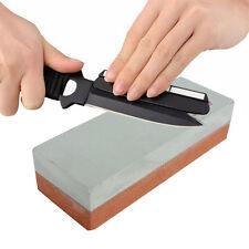 Dual Double Sided Knife Sharpening Sharpener Wet Stone Razor Whetstone Kitchen
