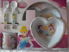 Disney PRINCESS - 5pc Melamine Dining Set - Tumbler, Bowl, Plate, Fork, Spoon