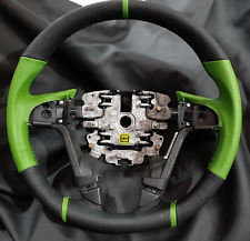 VE Commodore SS Steering Wheel Thick Sports Grip BRAND NEW CUSTOM Green Leather