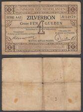 Netherlands 1 Gulden 1917 (VG) Condition Banknote KM #10