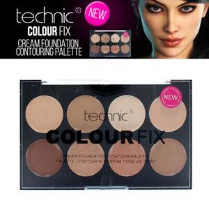 Technic Couleur Fix Cream Foundation 8 Shade Makeup Contour Palette - Concealer