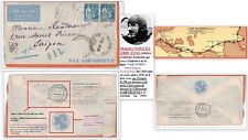 Lettre 10/1933 France/Saigon -PAR AVION- 1°Ligne fusion Air Orient en Air France