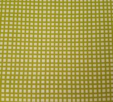 Happy Cats BTY Loralie Harris Quilting Treasures Lime Green Plaid on White