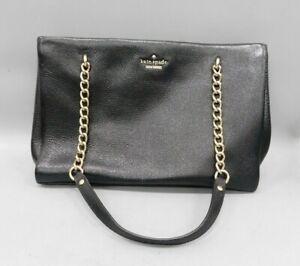 """Kate Spade Black Leather Shoulder Bag (12"""" x 8"""")"""
