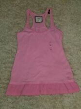 Medium Abercrombie And Fitch Tank Top NWT Racerback Pink Ruffled Bottom