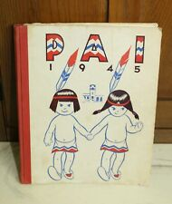 Vtg WWII 1945 Tamalpais Pai Union High School Mill Valley CA Yearbook Indians