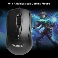 M11 Ambidextrous Gaming Mouse 4 Way Scroll Wheel Wired PC Computer Mice UK