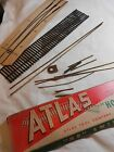 HO TRAIN VINTAGE ATLAS #8 LEFT OR RIGHT BRASS SWITCH / TURNOUT KIT NEW!