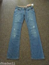 Dolce & Jeans Da Donna Gabbana, taglia W28/L34, Blu, Strappato, Boot-Cut, Nuovo di Zecca