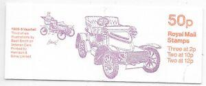 GB BOOKLET SG FB12B 13/6/1977 M.N.H.;VETERAN CARS,1903/5 VAUXHALL.