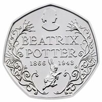 2016 50P COIN 150yrs 1866 UNCIRCULATED RARE FIFTY PENCE BEATRIX POTTER !