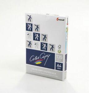 COLOR COPY PAPER COATED SILK WHITE PACK 500 FSC4 A4 210X 297MM 135GM