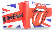 Rolling Stones Mick Jagger Wallet 3 card slot 2 bill sections Union Jack Cartoon
