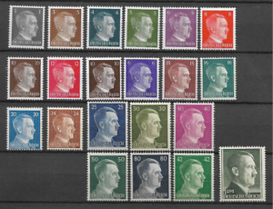 ALLEMAGNE REICH HILTER LOT 21 TIMBRES NEUF ** LUXE TOP AFFAIRE !!!!!!!!!!!!!