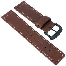 Citizen Sports | Uhrenarmband Leder Band 22mm braun mit heller Naht für BM8476