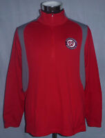 Washington Nationals MLB Baseball Club Red 1/4 Zip Pullover Men's Size XL