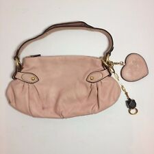 Light Pink Leather Juicy Couture Purse With Gold Tone Metal Accents