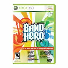 XBox 360 BAND HERO Video GAME disc w/case COMPLETE microsoft NO-guitar swift -B-