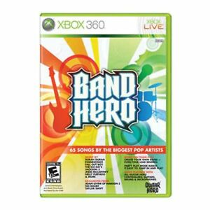 XBox 360 BAND HERO Video GAME disc w/case COMPLETE microsoft NO-guitar swift -B-