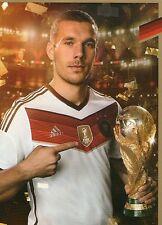 Limited, Limitierte Edition DFB Autogrammkarte! Lukas Podolski!! RAR!!, Gold