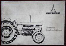 Deutz Schlepper D 8005 Ersatzteilliste