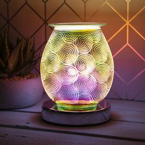 Aroma Touch Lamp Warm Gold Swirl Electric Wax Melt Oil Burner Dot Light Desire