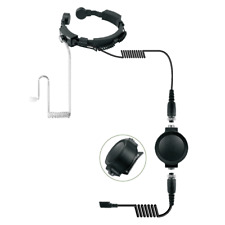 Tactical Heavy Duty Throat Microphone for Motorola Talk about Cobra 2.5 mm Pin