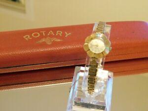 9ct gold Rotary Bracelet Watch-Superb! 13.85g