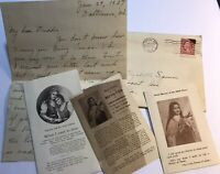 1927 Personal Letter And Added Religious Papers Inserts Poem Old Stamp Ephemera