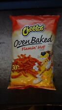 Cheetos Oven Baked Flamin Hot 3Oz Bag Cheese Snack Crunchy 50% Less Fat Chips