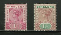 St Helena Victoria Mounted Mint Classic Stamps Great Condition Old Collection