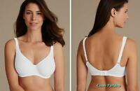"UK ""M&S""Seamless Non-padded Stretchy Wired MINIMIZER Bras Pink White Black Beige"