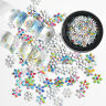 3D Snowflake Nail Sequins Colorful Metal Slices Nail Art Glitter Stickers Tips