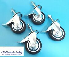 "4 X 3"" Swivel With Brake Castor Caster Wheel With M12×40 Bolt & Nut Brake 75mm"