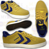 HUMMEL Mens Yellow & Blue Suede Sneakers Trainers Retro Shoes Skater