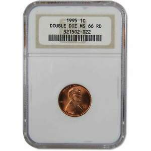 1995 DDO Double Die Obverse Lincoln Memorial Cent MS 66 RD NGC Penny 1c US Coin