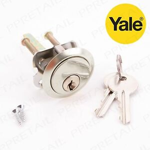 YALE REPLACEMENT RIM CYLINDER POLISHED CHROME AND  POLISHED BRASS
