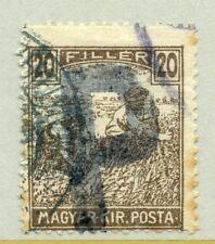 HUNGARY;  1918-19 Postage Due issue Harvesters, Optd. 'P' fine used  20f