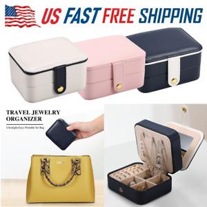 Portable Travel Jewelry Box Organizer Ring Earring Bracelet Display Storage Case