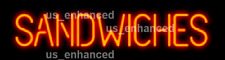 New Sandwiches Shop Open Neon Sign Light Lamp Wall Room 17""